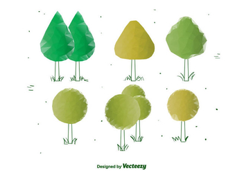 Geometric Vector Trees - Free vector #375387