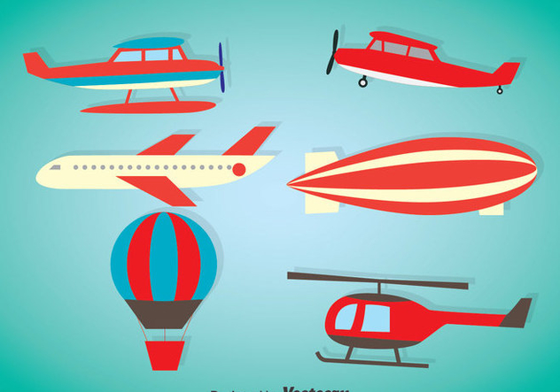 Air Plane Vector Sets - Kostenloses vector #375397