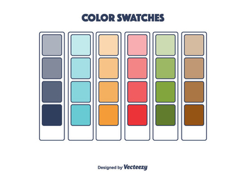 Color Swatches Vector - vector #375447 gratis
