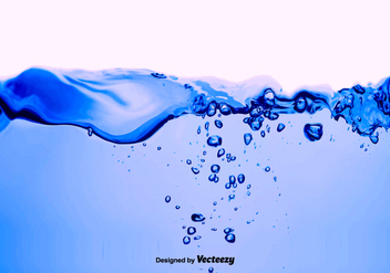 Vector Water Blue Background - бесплатный vector #375507
