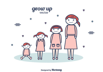 Free Grow Up Vector Background - vector gratuit #375547