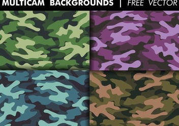 Multicam Backgrounds Free Vector - vector gratuit #375577