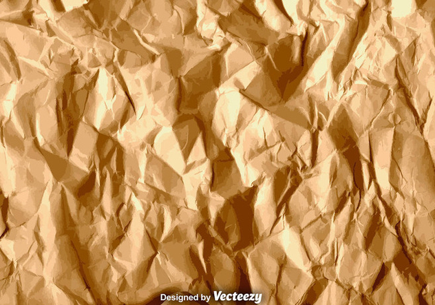 Vector Brown Crumpled Paper Texture - Kostenloses vector #375667