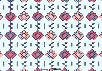 Geometrical Flowers Pattern - Free vector #375677