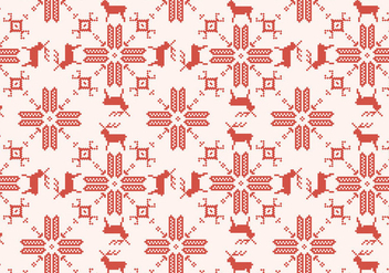 Reindeer Red Pattern - vector gratuit #375687