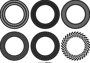 Round Tire Track Shapes - vector gratuit #375717
