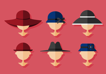 Vector Ladies Hat - бесплатный vector #375787