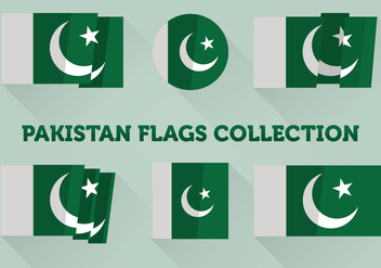 Pakistan Flags Collection - vector gratuit #375817