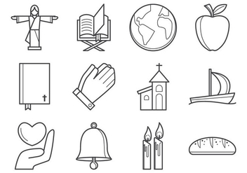 Free Christian Religion Icon Vector - Free vector #375857
