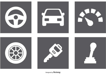Car Parts Icon Set - vector gratuit #375987