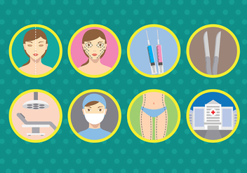 Plastic Surgery Vector Icons - бесплатный vector #375997