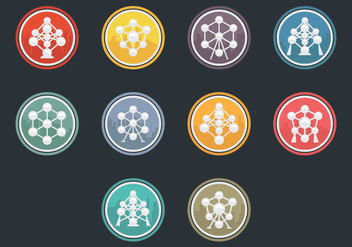Atomium Icon Vector Pack - Free vector #376097