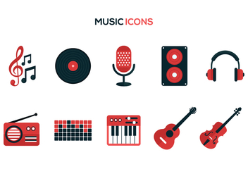 Free Music Vector Icons - бесплатный vector #376117