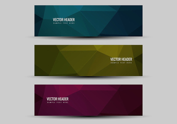 Free Vector Colorful Headers - бесплатный vector #376227