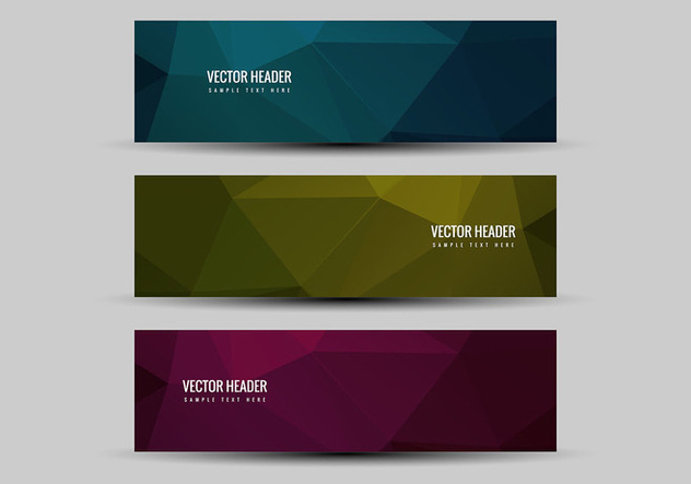 Free Vector Colorful Headers - Free vector #376227