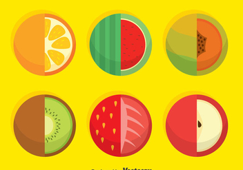 Circle Fruits Vector - vector gratuit #376267