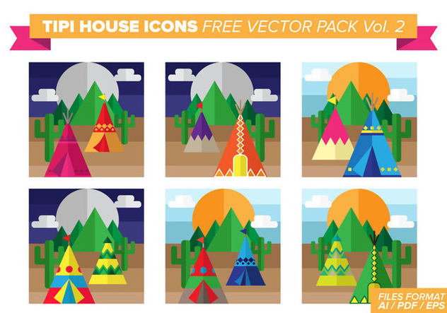Tipi House Icons Free Vector Pack Vol. 2 - Kostenloses vector #376497