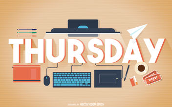 Thursday work poster - vector gratuit #376597