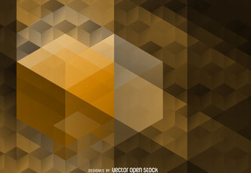 Polygonal hexagon pattern - vector gratuit #376637