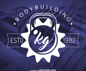 Bodybuilding fitness gym logo - vector gratuit #376657