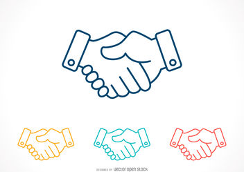 Handshake icon set - vector gratuit #376667