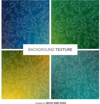 Gradient swirl decoration texture set - Free vector #376767