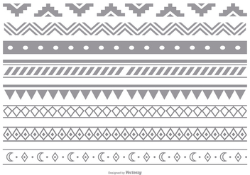 Decorative Border Set - Free vector #376927