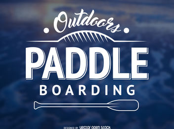 Hipster paddling label - Free vector #376957