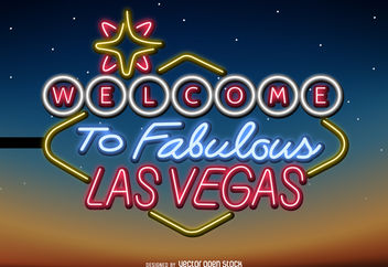 Las Vegas neon sign - Free vector #377087