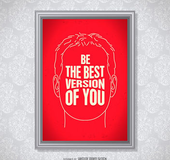 Be the best version of you poster - бесплатный vector #377097