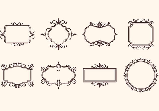 Free Vintage Retro Ornamental Frame Vectors Kostenloser Vektor
