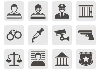 Free Crime Icons Vector - vector gratuit #377187