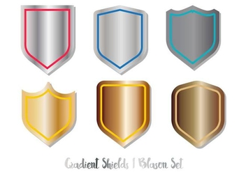 Blason Shield Vector Set Gradient - Kostenloses vector #377197