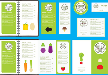 Italian Restaurant Menu Templates - Free vector #377287