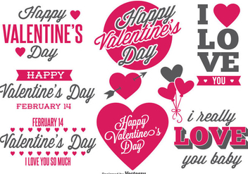 Valentine's Day Labels - vector #377307 gratis