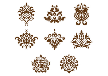 Set Of Cartouche Vector - Free vector #377317