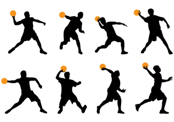 Silhouette Of Dodgeball Player - vector gratuit #377327