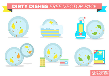 Dirty Dishes Free Vector Pack - vector gratuit #377367