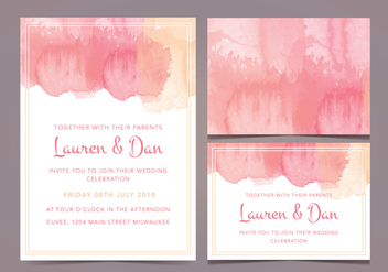 Free Wedding Invitation - vector gratuit #377397