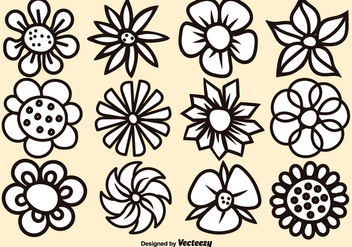Vector Cartoon Flower Set - Kostenloses vector #377417