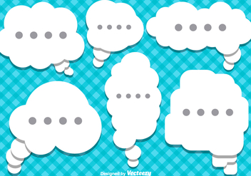 Vector Flat Style Speech Bubbles - Free vector #377487