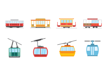 Free Cable Car Vectors - vector gratuit #377497