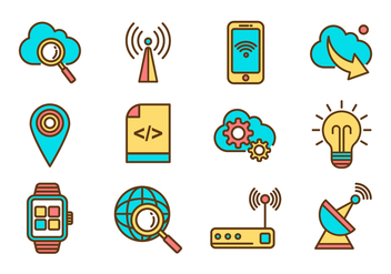 Free Internet Icons Vector - Free vector #377587