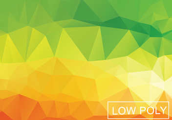 Warm Geometric Low Poly Style Illustration Vector - бесплатный vector #377637