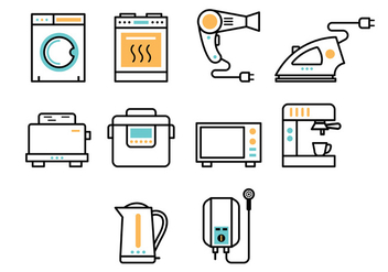 Set Of Appliance Icon - vector gratuit #377687