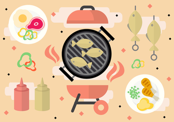 Free Barbecue Party Vector - vector gratuit #377707