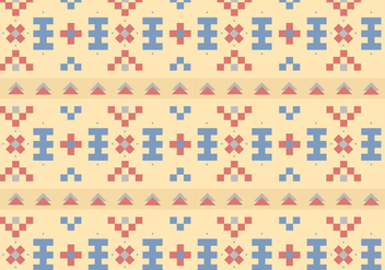 Native Pastel Pattern Background - vector gratuit #377727