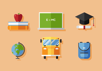 Vector School Icon Set - vector gratuit #377837