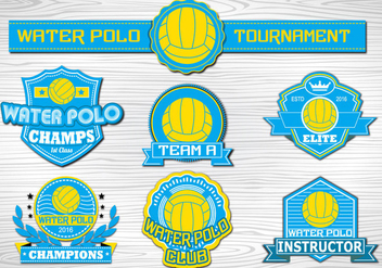 Water Polo Sport label collection - бесплатный vector #377957