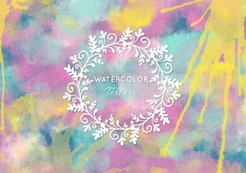 Free Vector Watercolor Background - Free vector #377987
